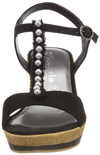 28378 Tamaris Black Bar 001 Women's Sandals Black Black T 665q7rC