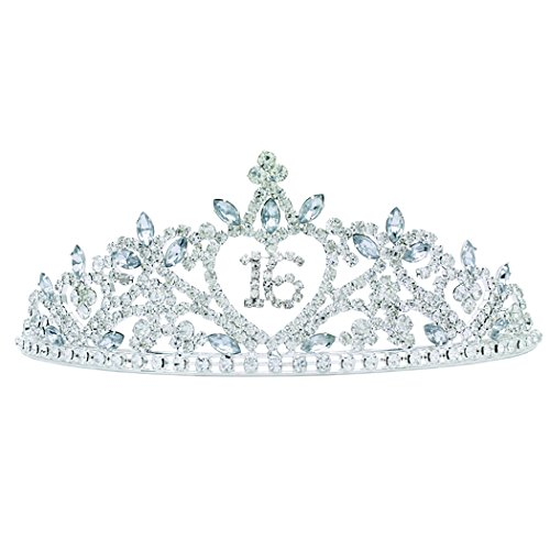 Rosemarie Collections Women's Rhinestone Birthday Tiara Crown