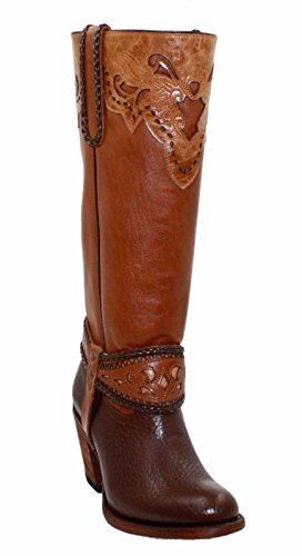 Women's Genuine Leather Soft Cowboy/Girl Long Shaft Boots...