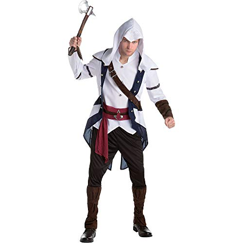 AFG MEDIA LTD Connor Assassins Creed Halloween Costume for Adults, Extra Large, with Included ()