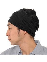 CasualBox Mens Sports Sweat Headband Towel Stretch Spandex Black