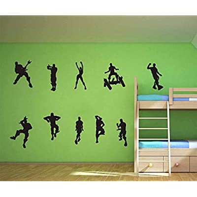 ALiQing Game Wall Decal Poster Music Skating Dancing Wall Stickers for Children Teenager Bedroom Playroom Wall Decoration (Black): Home & Kitchen