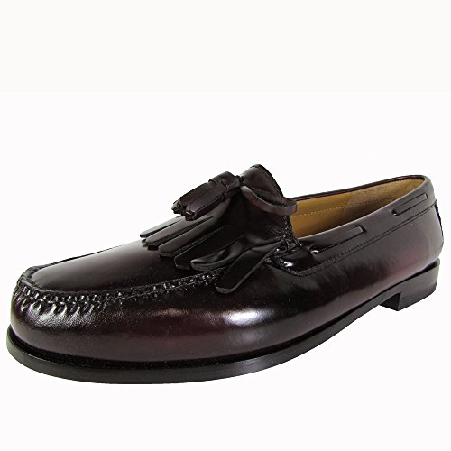 Cole Haan Mens Pinch Shawl Bow II Tassel Loafer Shoes, Burgundy, US 8