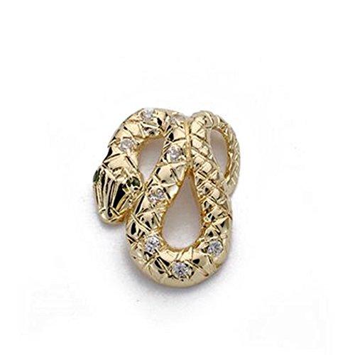 or 18k zircons Pendentif serpent 15mm. [AA0006]