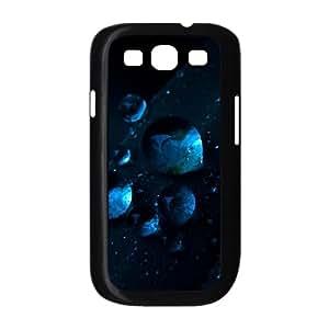 Samsung Galaxy S3 Case,Macro Water Drops Dark Blue Grass Hard Shell Back Case for Black Samsung Galaxy S3 Okaycosama425861