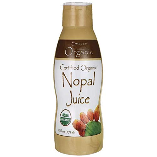 Swanson Certified Organic Nopal Juice 16 fl Ounce (473 ml) Liquid