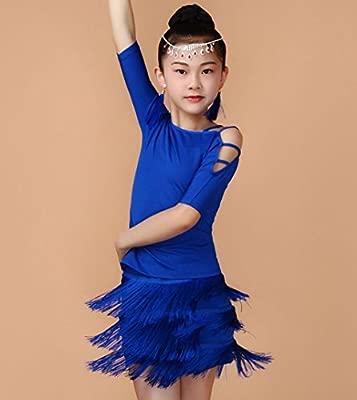 Ropa de Danza Latina para niños Danza Femenina Traje de Baile ...
