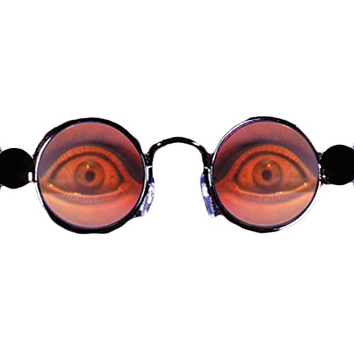Loftus Halloween Spooky Eyes Holographic Costume Glasses, Silver, One (Scary Halloween Contacts)