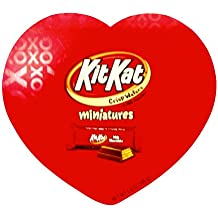 Kit Kat Valentine Heart Shaped Box of Chocolate Covered Wafers, Minitures Individually Wrapped