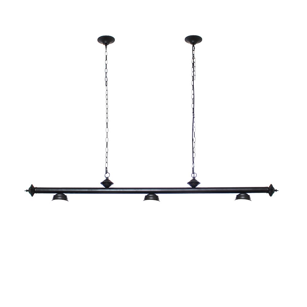 Chende Pool Table Lights for 8'/9' Table with 3 Metal Shades, Billiard Lamp for Man Cave, Game Room, Restaurant or Dining Room (Light Fixture)