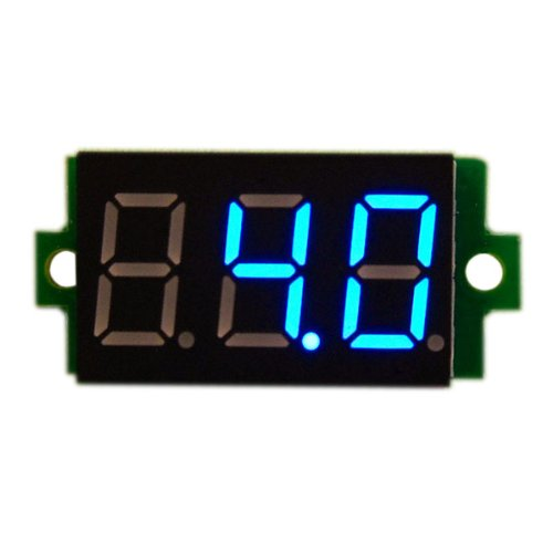"""DROK 0.36"""" DC Digital Display Car Battery Voltmeter LED Panel Volt Meter 0-200V Voltage Monitor Blue"""