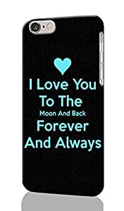 I Love You To The Moon And Back Pattern Image - Protective 3d Rough Case Cover - Hard Plastic 3d Case - For iphone 5C -