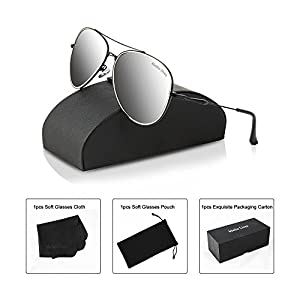 Aviator Sunglasses for Women and men with Case, Premium Polarized Sunglasses Most Fashion Style