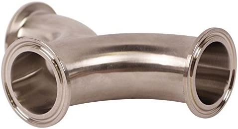 Wye Stainless Steel SS304 // 3A 2 Pack Tri Clamp 1.5 inch Curved Glacier Tanks -