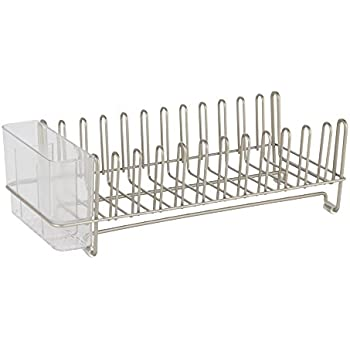 InterDesign Classico Compact Kitchen Dish Drainer Rack for Drying Glasses Silverware Bowls Plates  sc 1 st  Amazon.com & Amazon.com: Art and Cook Space Saving Dish Rack with Utensil Holder ...