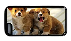 Hipster iPhone 5C case cheap cases corgi puppies TPU Black for Apple iPhone 5C
