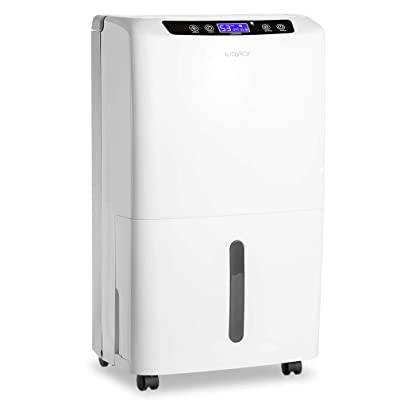 .com - Waykar 40 Pint Dehumidifier for Home and Basements in Spaces up to 2000 Sq Ft, Auto or Manual Drain -