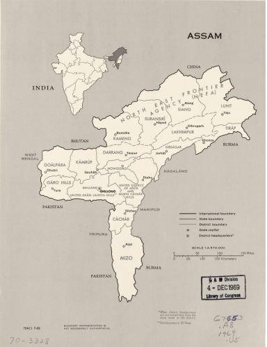 Amazon Com Historic Map 1969 Map Assam 7 69 Size 18x24 Ready