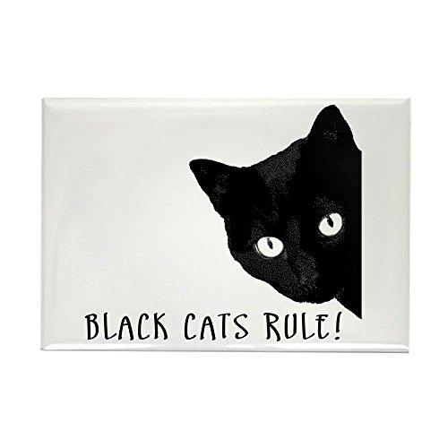 "CafePress - BLACK CATS RULE - Rectangle Magnet, 2""x3"" Refrigerator Magnet"