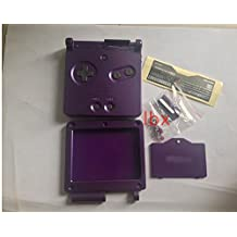 Replacement Full Housing Shell Part Case Cover for Nintendo GBA SP Gameboy Advance SP Color Purple