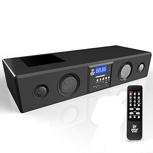 Pyle 300 Watt Bluetooth Soundbar with USB/SD/FM Radio and Wireless Remote  Black
