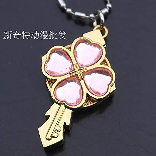 (shugo chara necklace pendant chain watch pocket small ya dream wire flower cartoon watches (pink)