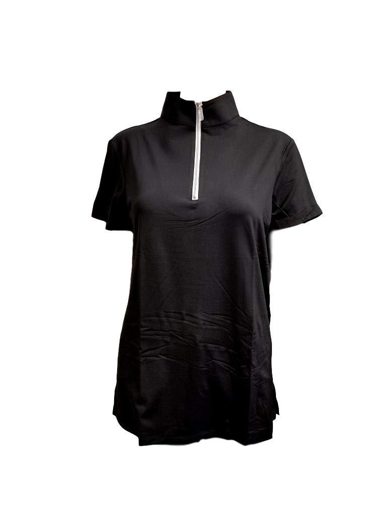 テーラードスポーツマン アイスフィル 半袖 ブラック/シルバー Small