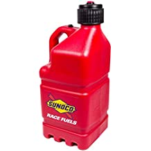 Sunoco Race Fuels 5 Gallon Racing Utility Jug with Deluxe Filler Hose Kit - Red - Made in the USA