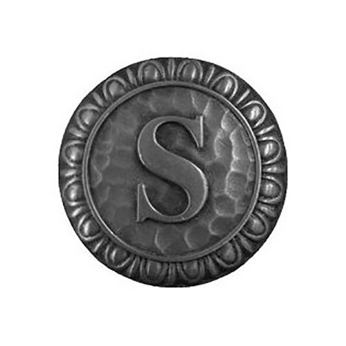 Notting Hill Decorative Hardware Initial S Knob, Antique Pewter