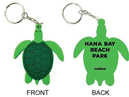 Hana Bay Beach Park Hawaii Souvenir Green Turtle Keychain