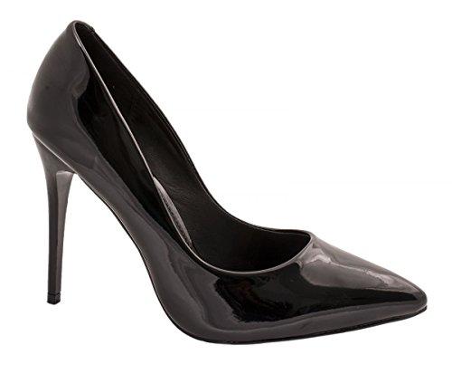 Schwarz Pearl Elegante Elara punta Heels High tacco di Stilettos Comodo w8gpwz