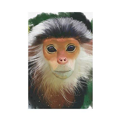 NgkagluxCap Douc Langur Monkey Polyester Garden Flag House Banner 12 x 18 inch Double Sided Spring Summer Yard Outdoor Decorative