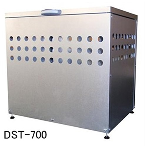 メタルテック ガルバ鋼板製 ふた付 ダストボックス DST-700 200L 『ゴミ袋(45L)集積目安 4袋、世帯数目安 2世帯』 『ダストボックス ゴミステーション 屋外』 B0123DW4DC 18600
