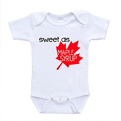 Sweet As Maple Syrup Canadian Baby Clothes Canada Online Clothing newborn(0-3 Months)