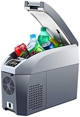 LFSPミニ冷蔵庫 小型冷蔵庫ポータブルカー冷蔵庫のコンプレッサー冷蔵庫冷凍庫、屋外の旅行キャンプ冷蔵庫、冷凍車のホームデュアル12 V / 24 V / 220V-グレー/ホワイト(サイズ:17L)