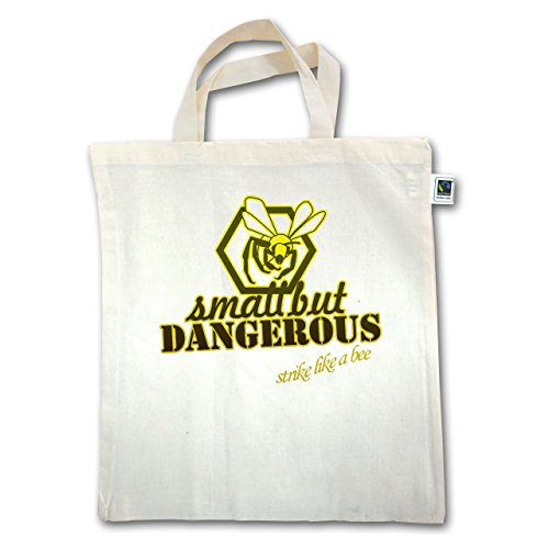 Statement Shirts - Small but dangerous Biene - Unisize - Natural - XT500 - Jutebeutel kurzer Henkel