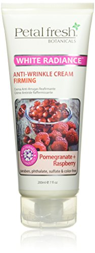 Petal Fresh Botanicals Whitening Firming Anti-Wrinkle Cream, Pomegranate and Raspberry, 7 Ounce