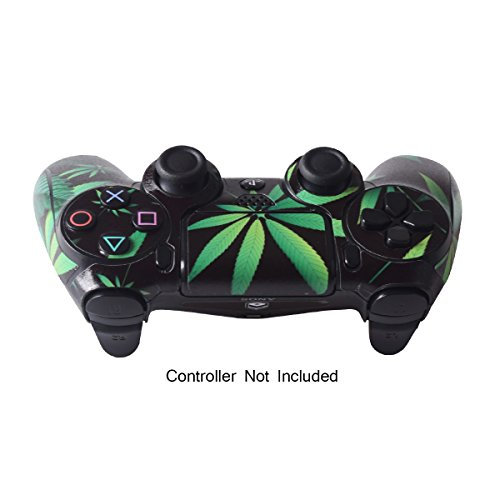 PS4 Controller Designer Skin for Sony PlayStation 4 DualShock Wireless Controller - Weeds Black