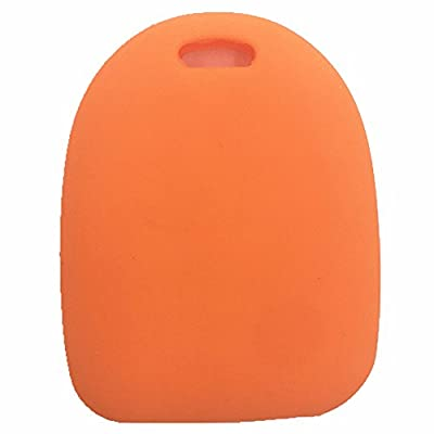 Ezzy Auto Orange Silicone Rubber Key Fob Case Key Cover Key Jacket Skin Protector fit for 2004-2006 Pontiac GTO: Automotive