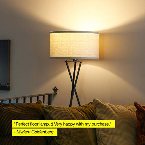 Brightech Jaxon Tripod Led Floor Lamp Mid Century Modern Living Room Standing Light Tall