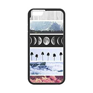 Hot selling - Moon phases,Ocean,Flowers,Mountains Pattern iPhone 6 4.7 (Laser Technology) Case