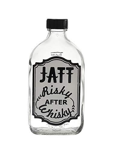 EK DO DHAI Glass Bottle   1 Piece, Multicolor, 180 ML