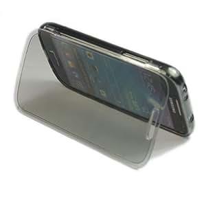 Voguecase - Funda con tapa para Samsung Galaxy S4 Mini I9190 (TPU, silicona), transparente