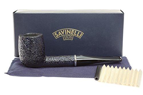 Savinelli Arcobaleno 111 Blue Tobacco Pipe - Rustic by Savinelli