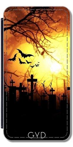 Leder Flip Case Tasche Hülle für Apple iPhone SE - Halloween Horror Unheimlich Gruselig by Grab My Art