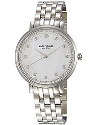 Kate Spade 1YRU0820 Ladies Monterey Silver Tone Steel Bracelet Watch