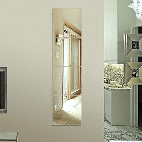4PCS 30CM Bathroom Mirror Tile Wall Sticker Square Self Adhesive Stick On Art US