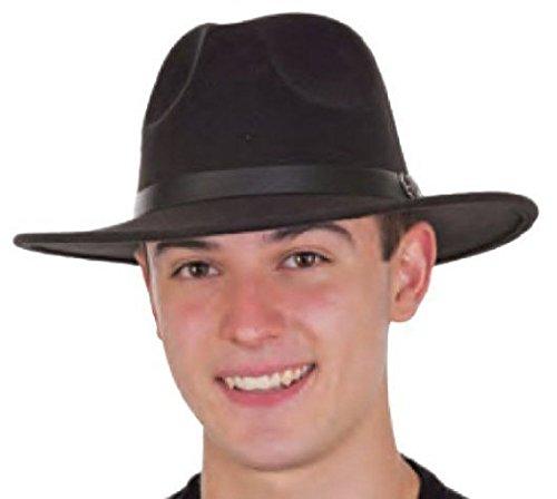 Felt Gladiator Child Hat (OvedcRay Deluxe 20'S Mens Black Gangster Felt Fedora Trilby Blues Brother Costume Hat)
