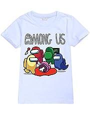 Among Us T Shirt for Kids Unisex Kids Cartoon T-Shirt Among Us Sweatshirt for Boys Girls