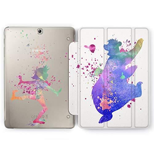 Wonder Wild The Jungle Book Samsung Galaxy Tab S4 S2 S3 A E Smart Stand Case 2015 2016 2017 2018 Tablet Cover 8 9.6 9.7 10 10.1 10.5 Inch Clear Design Cartoon Movie Funny Cute Bear Ballo Mowgli New -